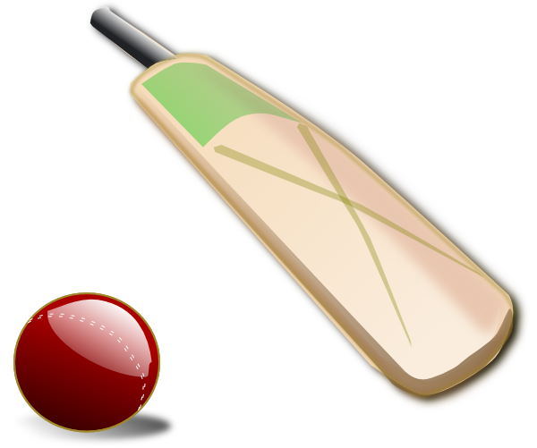 graphic freeuse library Cricket Bat And Ball Clip Art at Clker