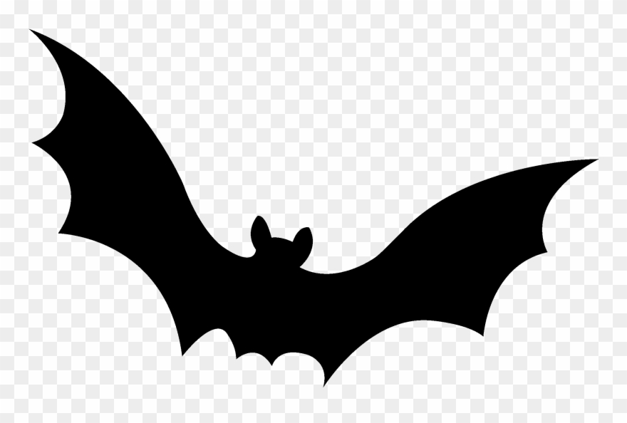 black and white Free bat stencil download. Bats clipart.