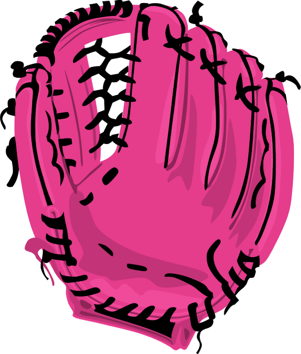 clipart royalty free library Softball Glove Drawing at GetDrawings