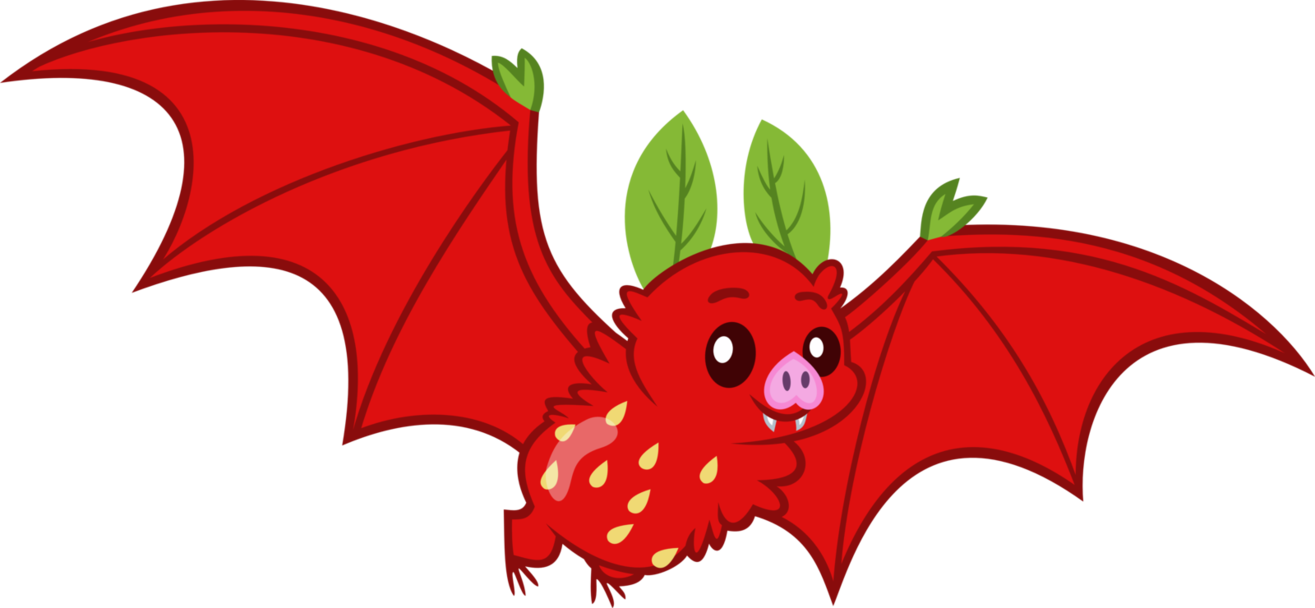 picture black and white Strawberry by erccre on. Bat clipart fruit bat.