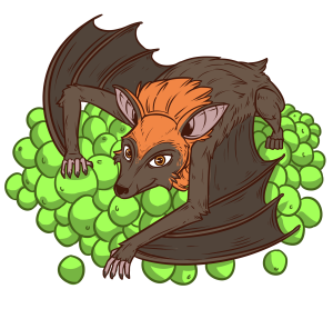 clip library library Fruitbats tv interactive live. Bat clipart fruit bat.