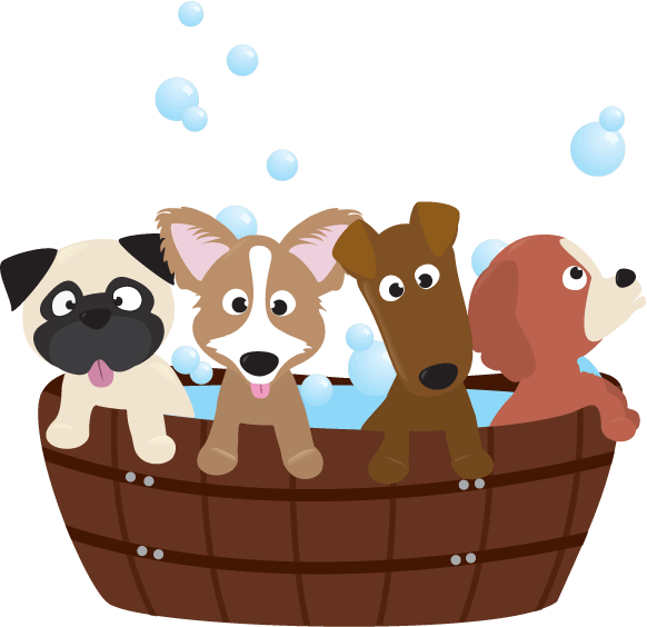 clip black and white stock The ultimate guide to. Bathing clipart dog bath.