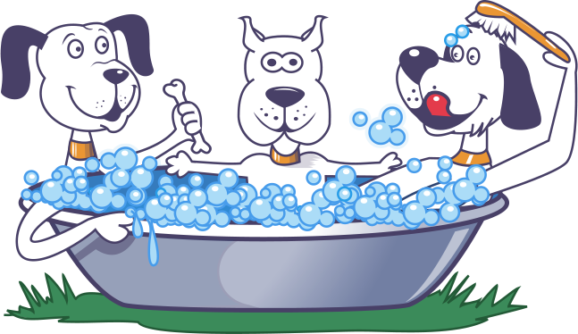 clipart free download Home community bark wash. Bathing clipart dog bath.