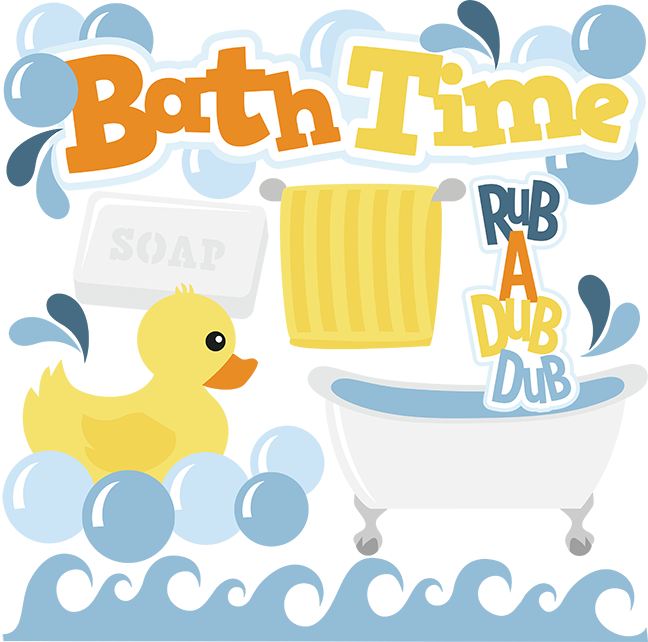vector free stock Time cut files for. Bath clipart svg.