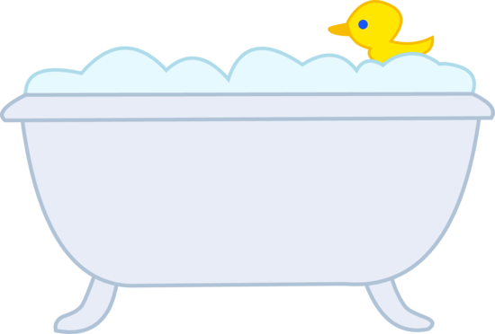 vector transparent stock Bathing clipart bubble bath. With rubber ducky kid.