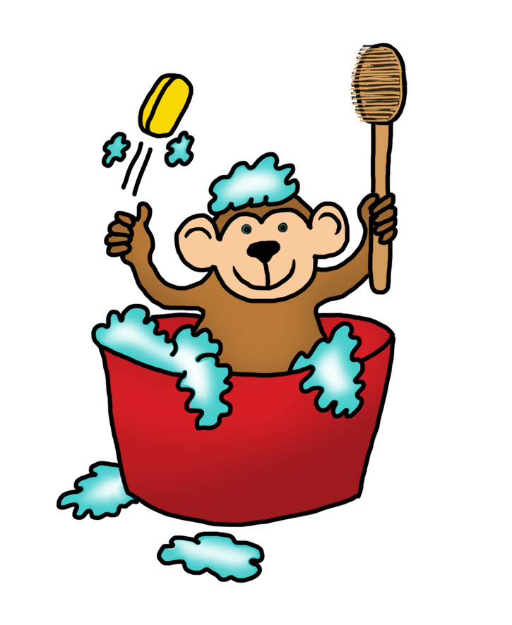clip black and white download Funny monkey drawings clip. Ape clipart happy