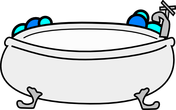 clip Bathtub With Bubbles Clip Art at Clker