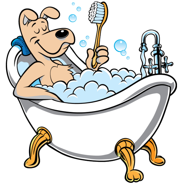 library Pin by dearts on. Bathing clipart dog bath.