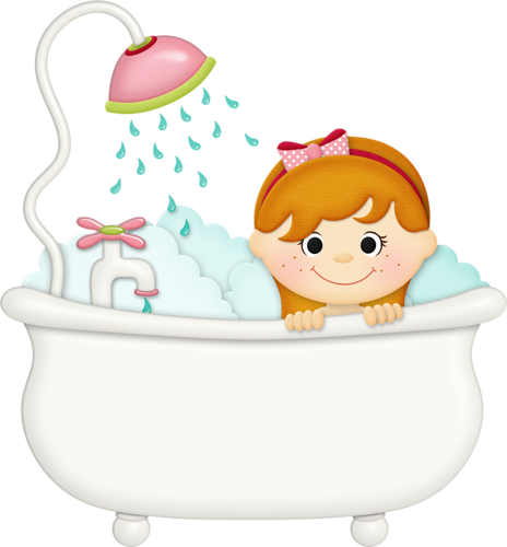 clipart free download Bathing clipart. Jss squeakyclean girl tub.