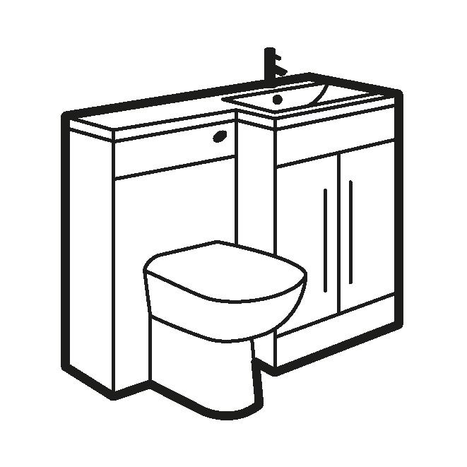 jpg black and white stock Bathroom clipart bathroom basin. Luxury toilet and combination.