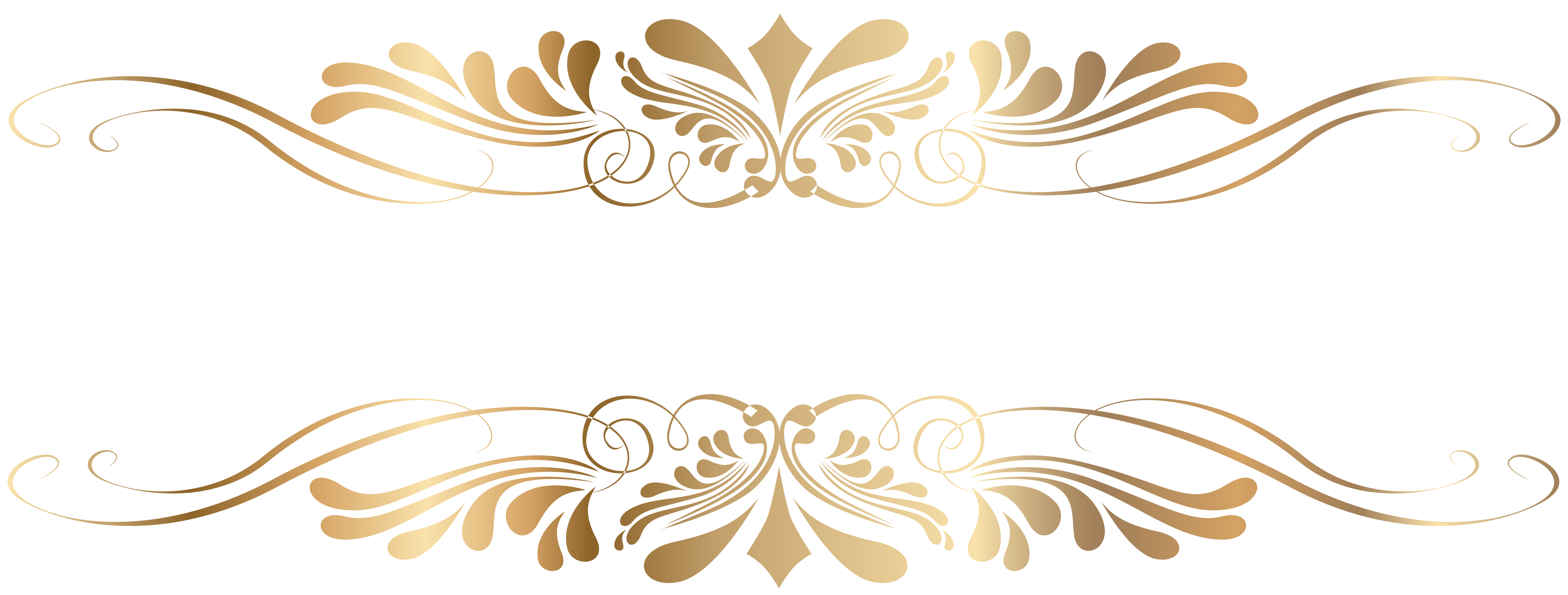 picture black and white library Golden decorative element png. May clipart decoration.