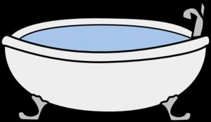clipart library download Bath clip art free. Bathtub clipart