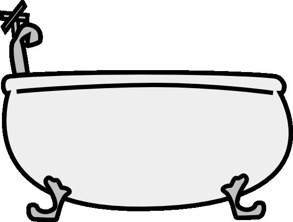 clipart transparent Tub clip art at. Bathtub clipart