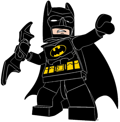 png black and white stock Lego clipart number 5. Batman the movie clip.
