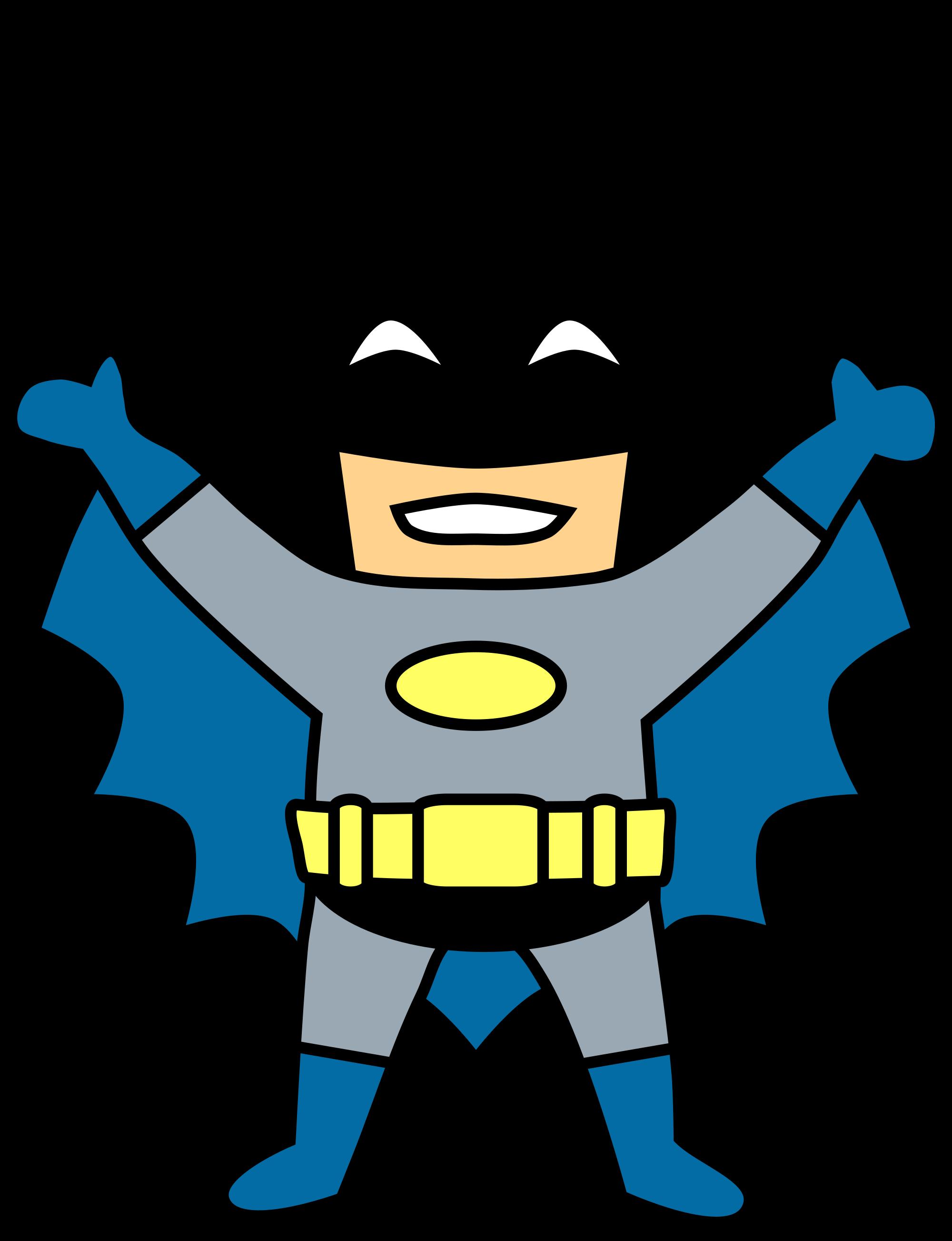 free stock Happy Mini Batman Cartoon Clip Art Transparent