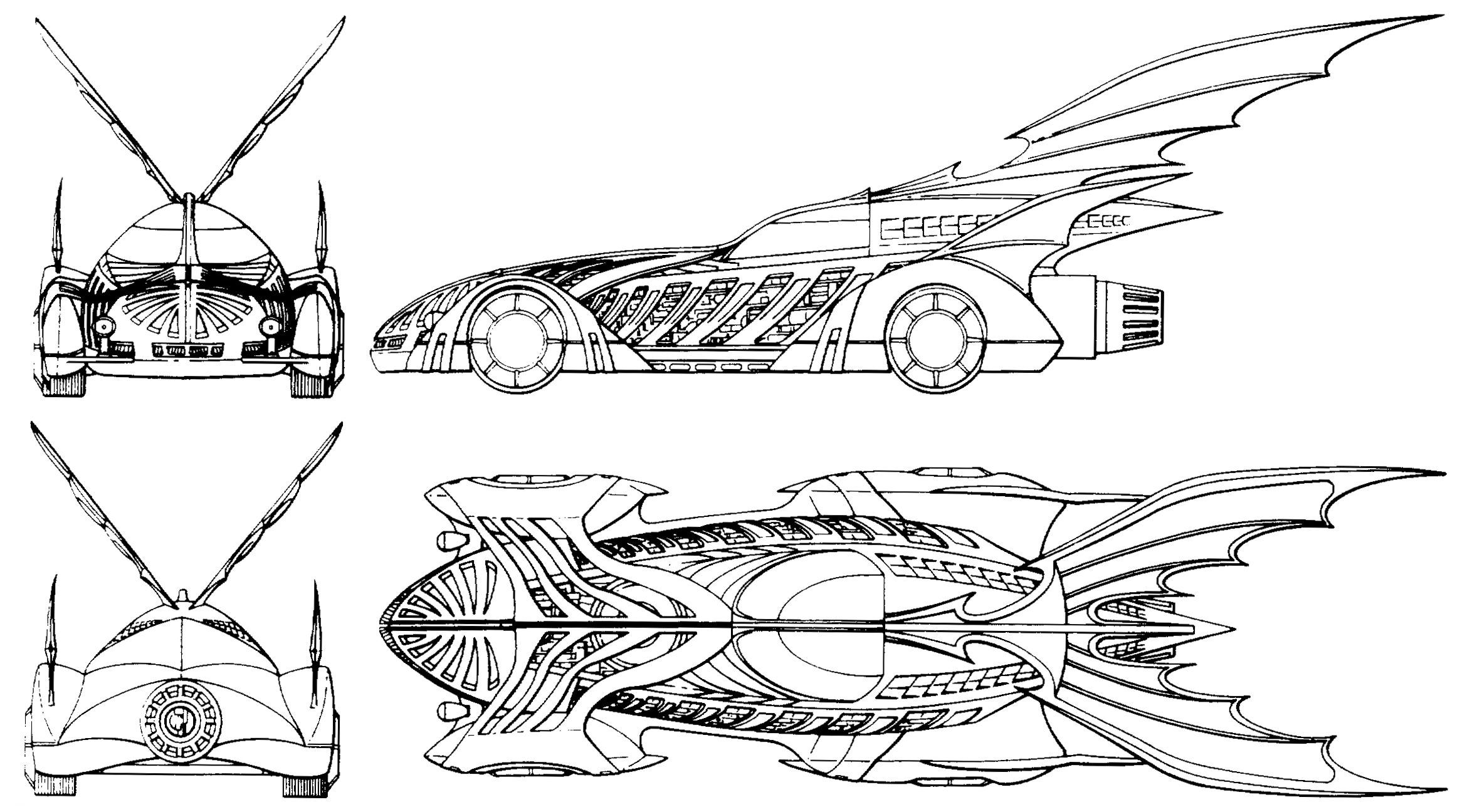 graphic royalty free library Batmobile drawing batman forever. Halloween