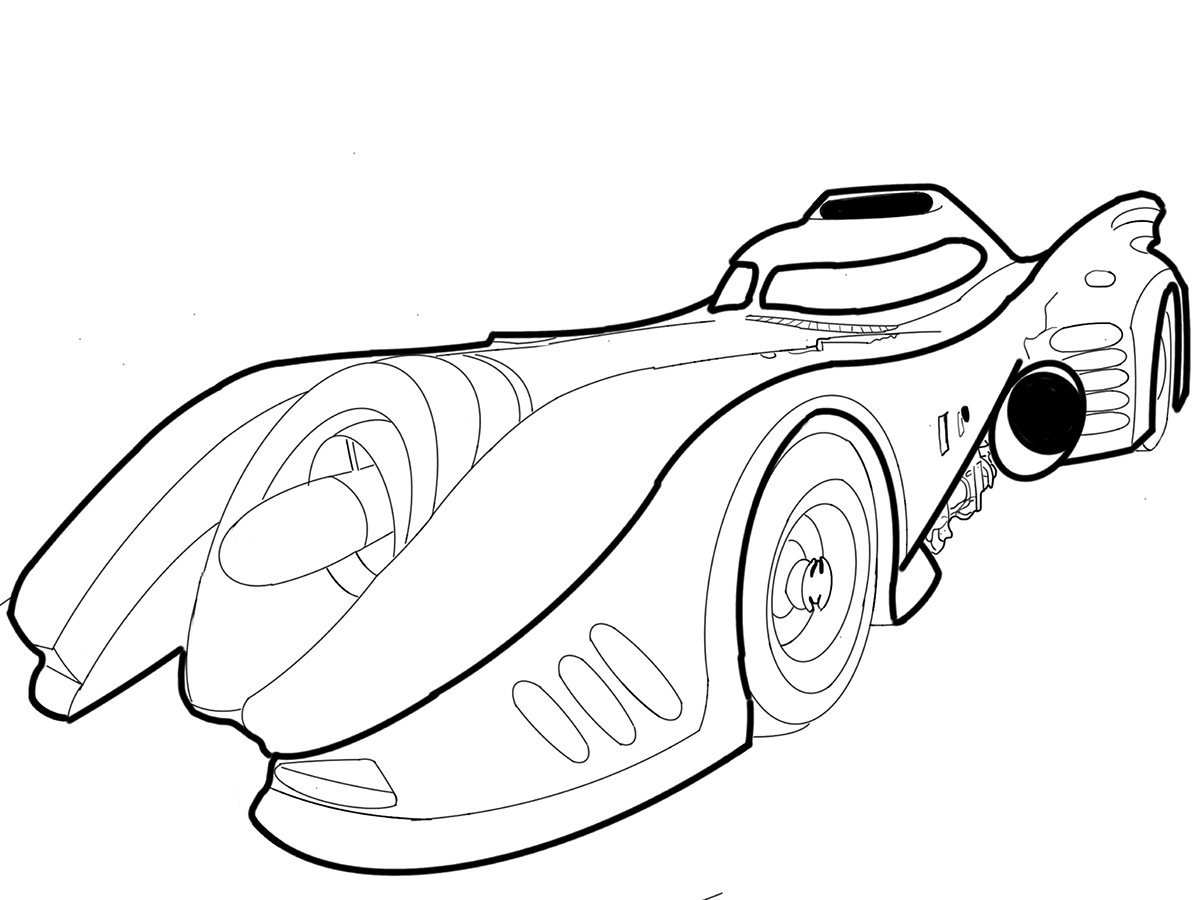clip art library library Batmobile Series on Behance