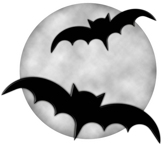 image library Moon and bat . Bats clipart.