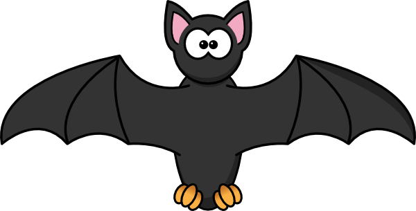 graphic freeuse library Bat clip art at. Bats clipart large black.