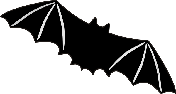 graphic freeuse library Bats clipart large black. Bat clip art at.