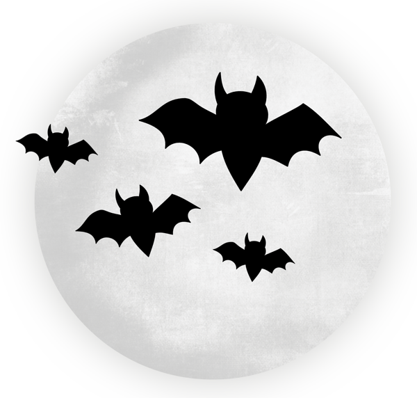 vector library Bats clipart large black. Transparent moon with halloween.