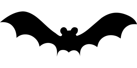 jpg free Printable bat silhouette at. Bats clipart large black.