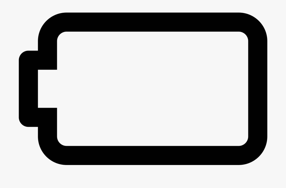 png freeuse Battery clipart. Empty icon black and.