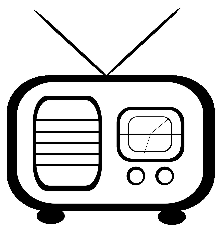 transparent Radio Clipart Black And White