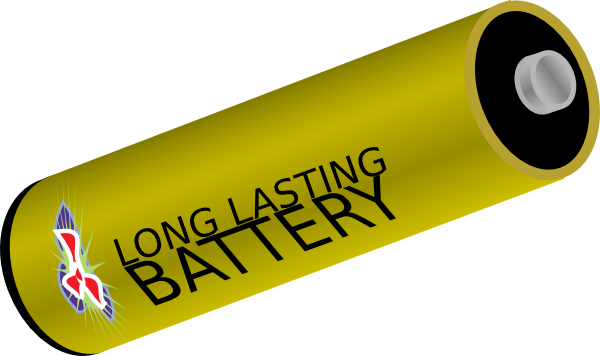 image library Long Lasting Battery Clip Art at Clker