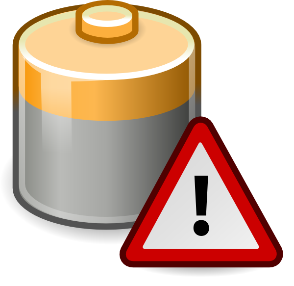 free stock Battery Caution Clip Art at Clker