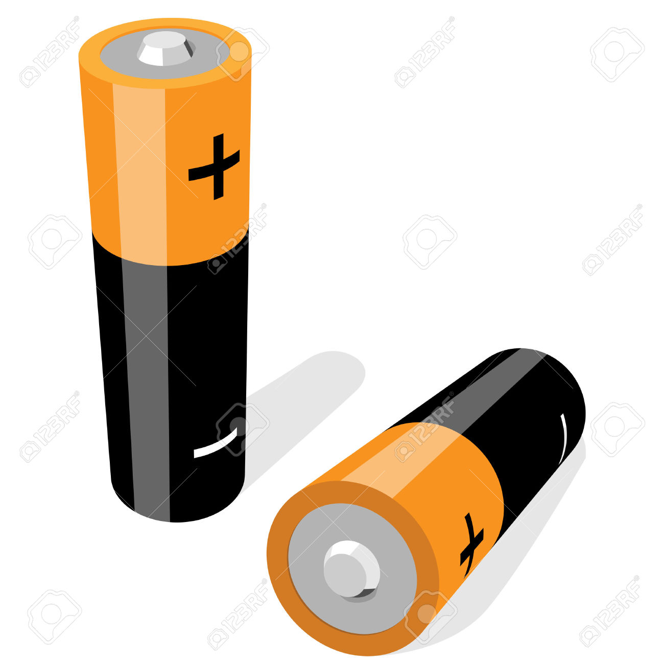 png royalty free stock Battery clipart two. Collection of batteries free.