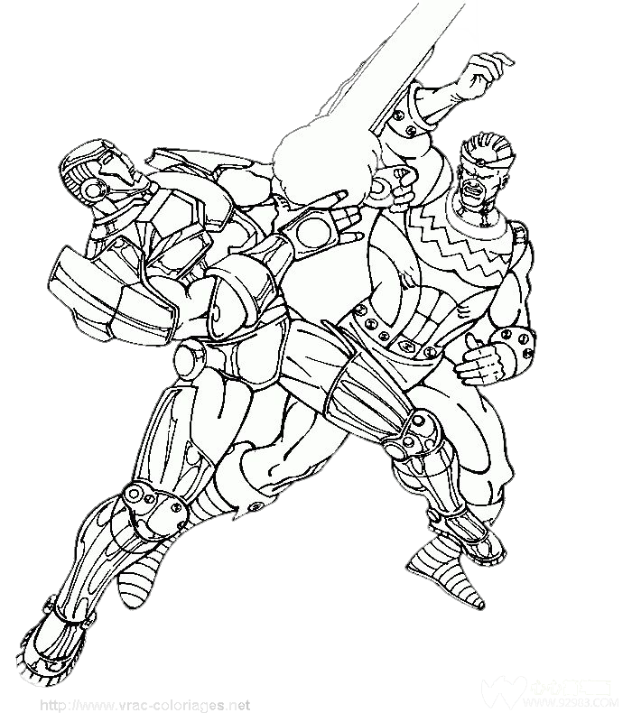 image royalty free library Battle drawing. Iron man spider superhero