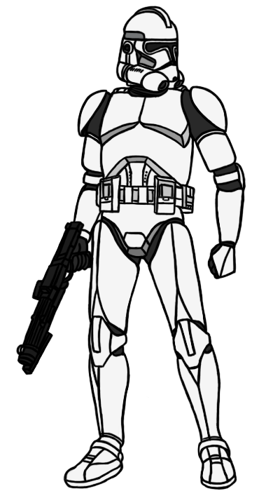 vector transparent download Phase II Clone Trooper Base by PD