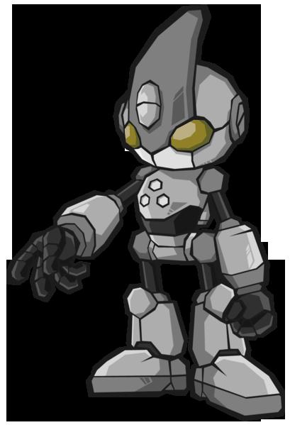 banner drawing robots character #95486962