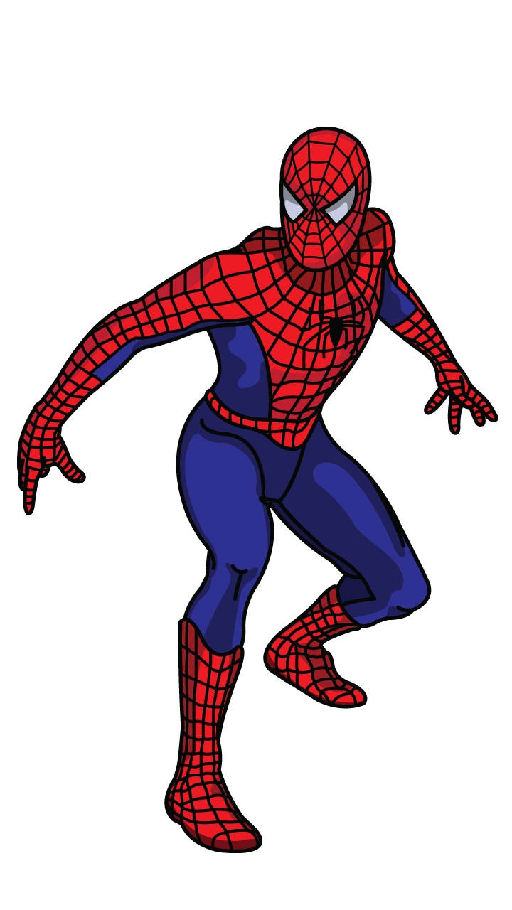 png royalty free download This tracing tutorial will. Drawing superman spider man