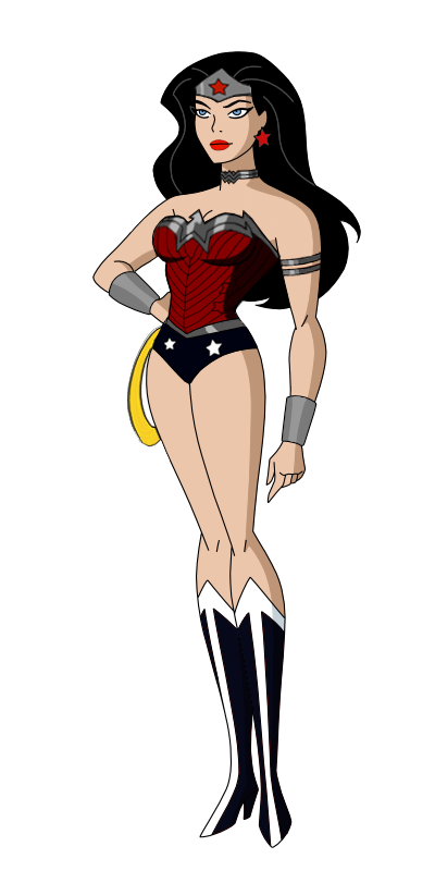 clip royalty free download Starfire drawing new 52. Jl wonder woman by.