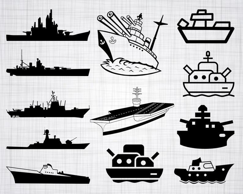 jpg free download Svg bundle cut files. Battleship clipart.