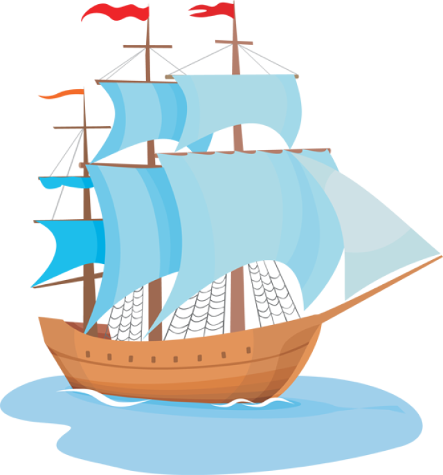 clipart freeuse stock Ship colonial free on. Yacht clipart nautical