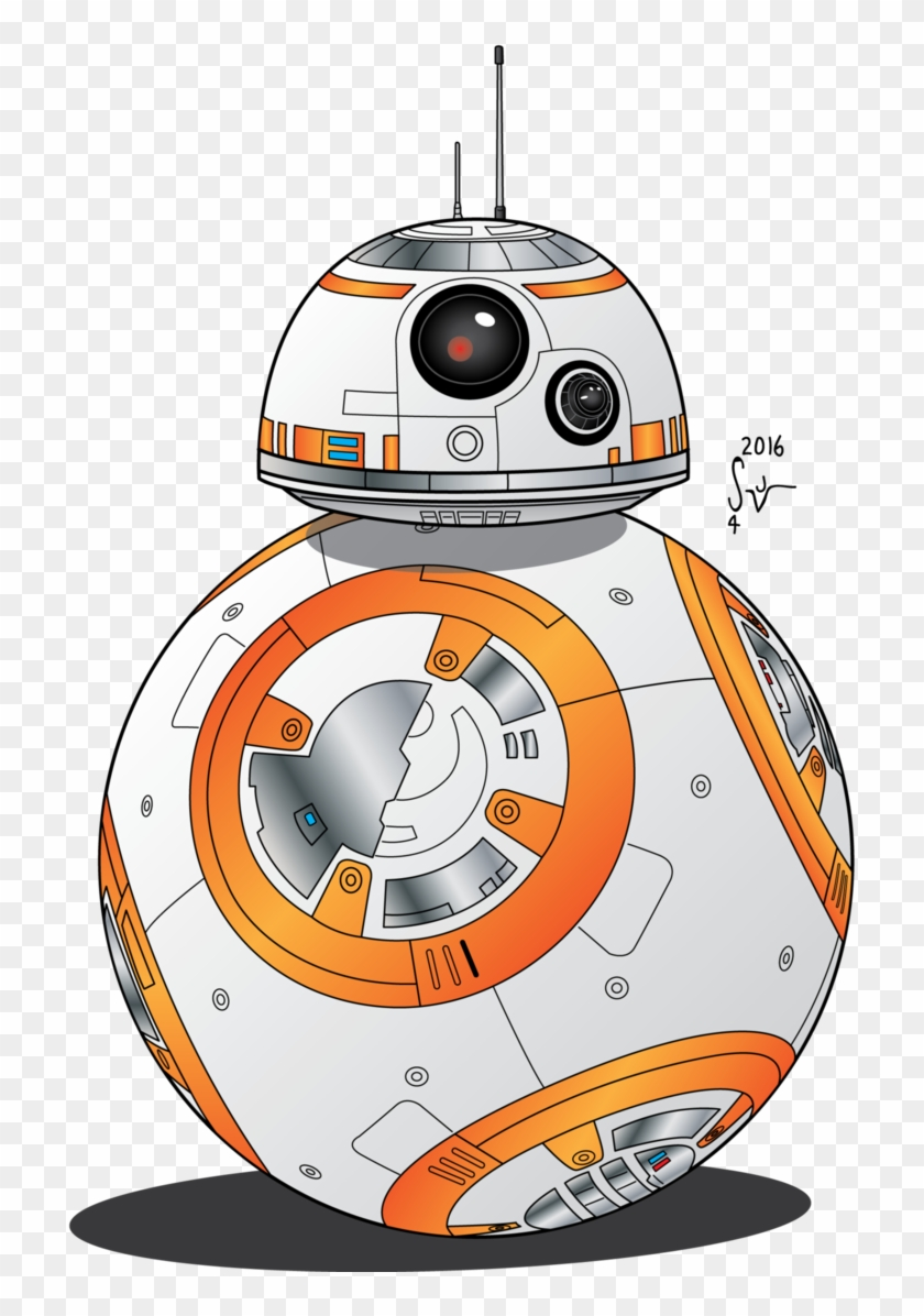 svg black and white download Star wars bb cartoon. Bb8 clipart.