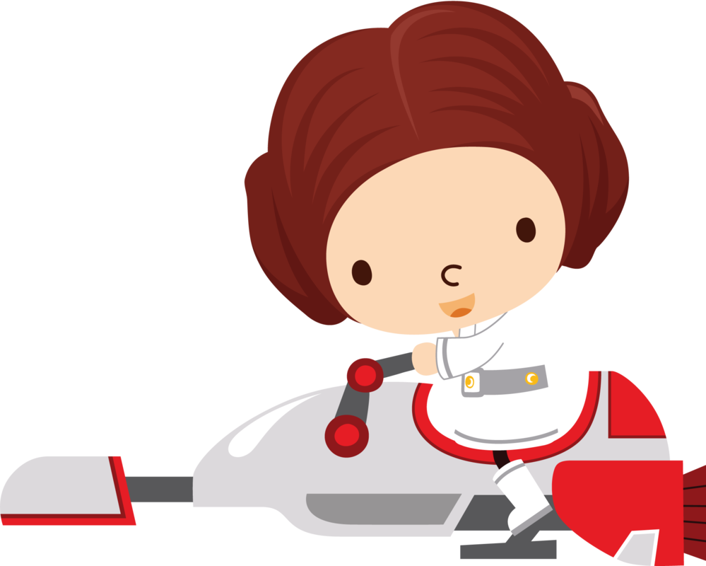 clip royalty free stock Chewbacca clipart baby. Leia speeder by chrispix.