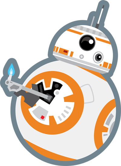 graphic black and white library bb8 svg #86287369