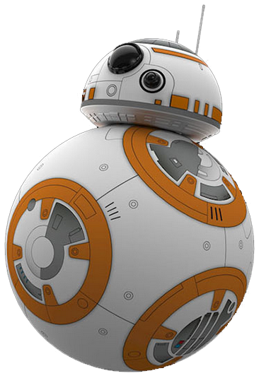 jpg black and white stock Bb commercial shows the. Bb8 clipart sphero