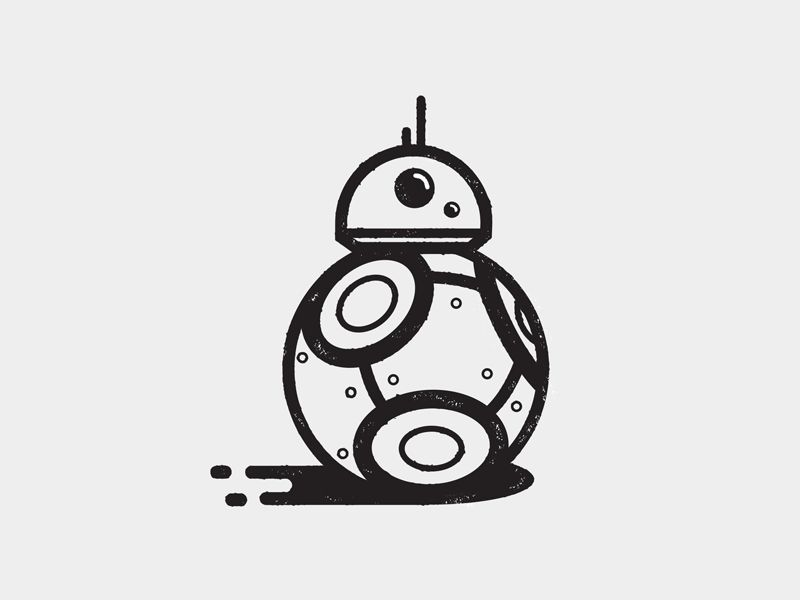 graphic library library Bb projects star wars. Bb8 clipart vector.