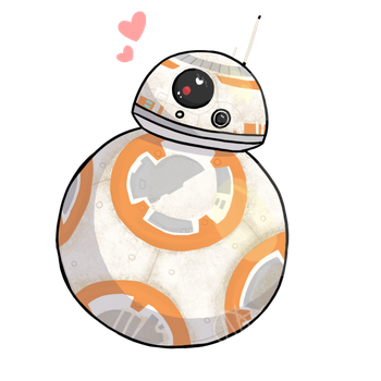 clipart freeuse stock Bb8 clipart vector. Droids on star wars.