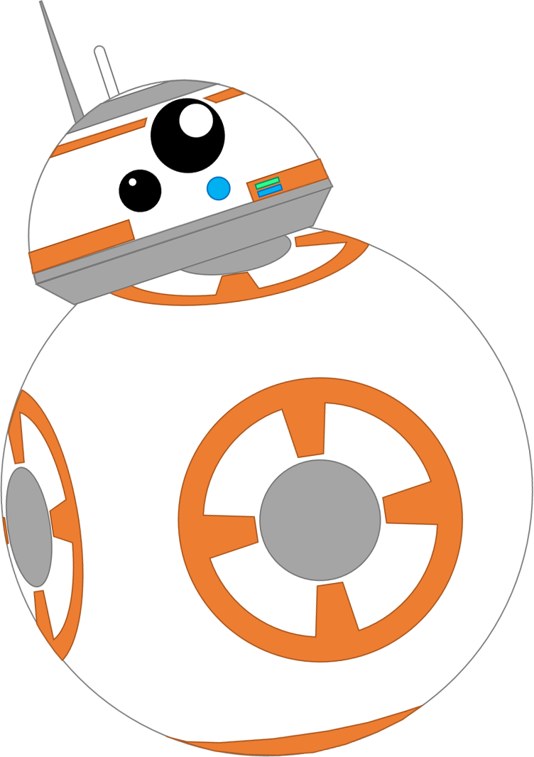 black and white stock Bb by coulden dx. Bb8 clipart yoda.