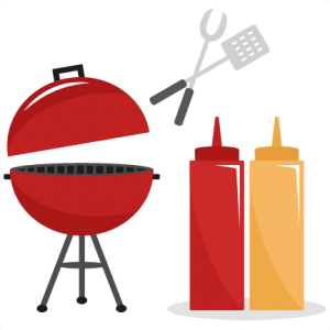graphic transparent library Grilled clipart. Bbq set svg cutting.