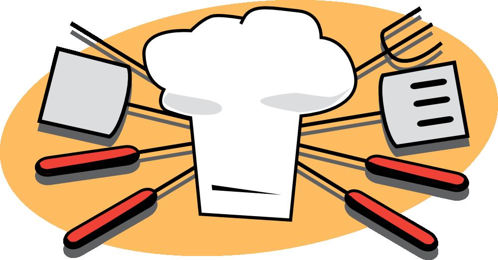 banner Grill clipart bbq cook. Onlinelabels clip art tools