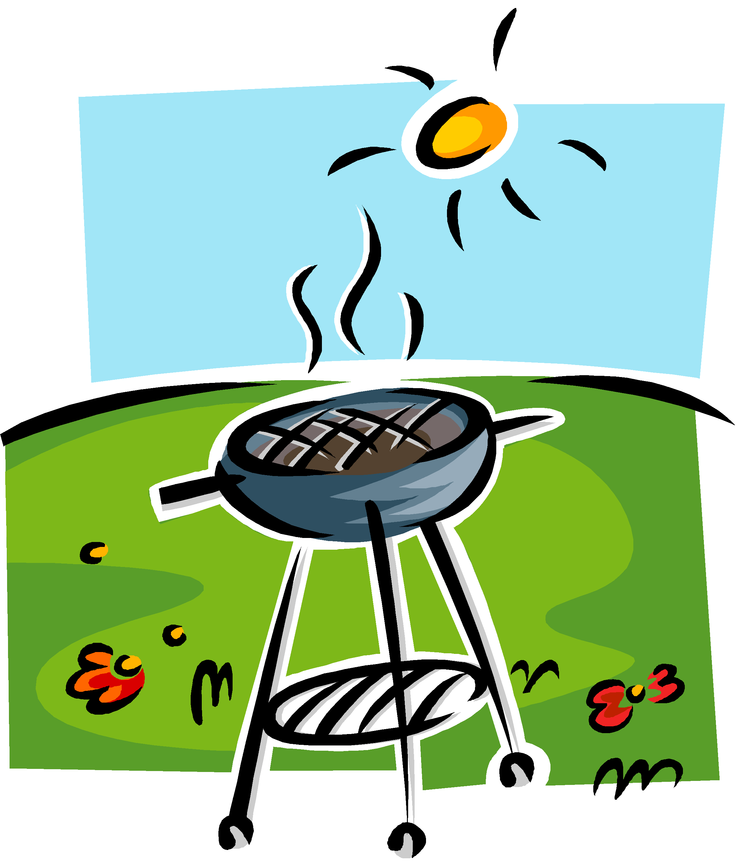 transparent stock Grill clipart drawn. Bbq drawing at getdrawings