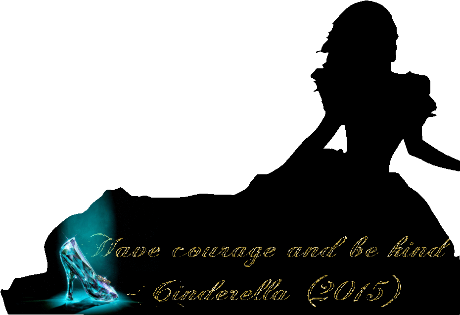 banner transparent stock Have courage and cinderella. Be kind clipart