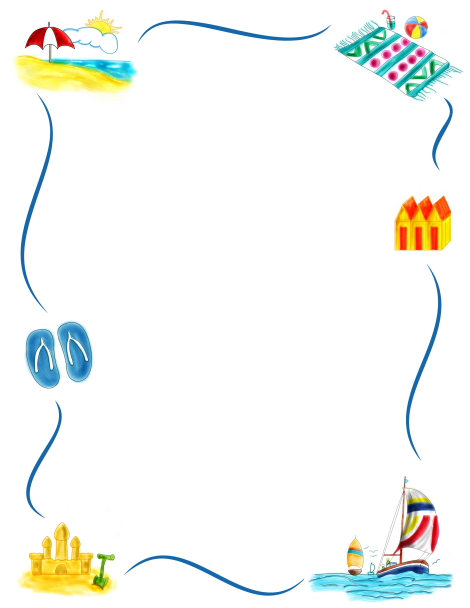 banner free Pin by muse printables. Beach border clipart